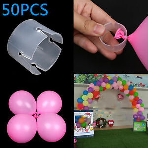 50pcs Balloon Arch Connectors Clip Ring Buckle Balloon Flower Party Home Decor