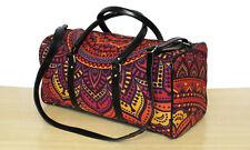 New Indian Cotton Ethnic Handmade Sports Duffel Bag Luggage Bag Adjustable Strap