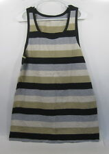 new Galaxy By Harvic Brown/Beige/Black Strap Tank Top Size Xl *