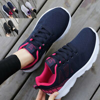 Damen Sneaker Turnschuhe Laufschuhe Sportschuhe Stricken Bequem Freizeitschuhe