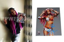 Wwe Sasha Banks Hand Signed Autographed 8X10 Photofile Photo With Exact Proof 7