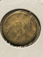 Vintage Token, Maryland 3 Cents Token Coin T19