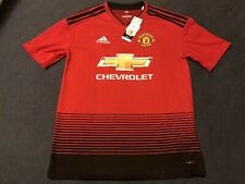 New Adidas Youth XL Manchester United 18-19 Soccer Jersey Football Kids Red NWT
