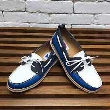 Authentic Louis Vuitton CUP boat shoes white blue damier 7 LV fits 8 US 41 EUR