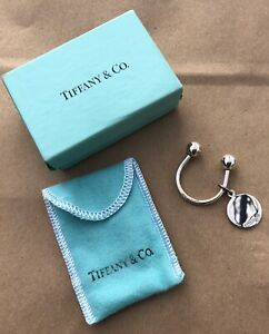 NIB Authentic TIFFANY & CO. Sterling Silver KEY RING Horseshoe W/Charm