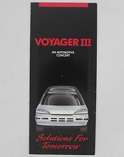 Chrysler 1990 Voyager III Concept Car Sales Brochure / Literature
