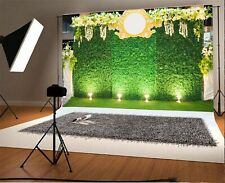 10x6.5ft Background Grass Floral Wedding Scene Backdrop Studio Photography Prop