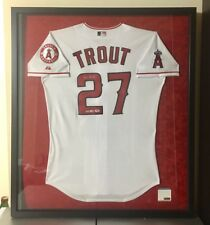 ROOKIE Mike Trout 2012 Autographed MLB Majestic Angels Jersey Custom Frame  PSA 2ee1eaa94