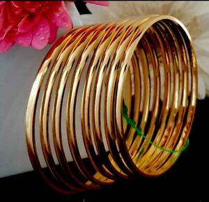 Indian Pakistani 22ct Gold Plated Bangles Size 2.6