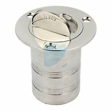 "Marine Keyless Boat Fuel Gas Deck Fill / Filler Stainless Steel 316 2"" Gas"