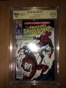 Amazing Spider-man 361 CBCS 9.0 Signed Mark Bagley GOLD LABEL NEWSSTAND EDITION