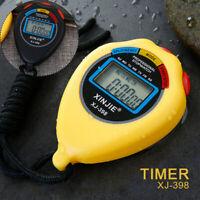 Wasserdichte Digitale Sport Stoppuhr mit Tragbarem Fitness Timer Neu