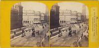 Parigi Istantanea Lrue Da Rivoli Foto H.Jouvin Stereo Vintage Albumina Ca 1865