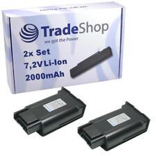 2x Akku 2000mAh 7,2V für Windsor Radius Mini EB30 Cordless Sweeper 1.545-113.0