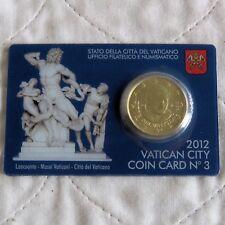 Vatican City 2012 brillant universel 50 cents-Scellé Monnaie Pack 3