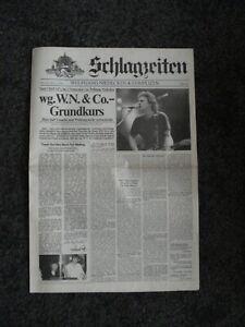 Wolfgang Niedecken & Complizen - Schlagzeiten - Promo Zeitung April 1987 - BAP