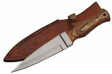 "9"" Celtic Scottish Dirk Sgian Dubh Dagger wood Handle Knife Athame - New"