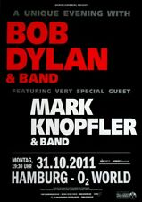 Dylan, Bob-Knopfler - 2011-concert affiche-Concert-Tourposter-Hambourg