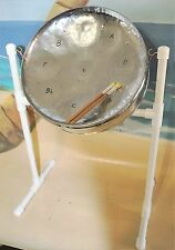 Steel Drum w/ Sticks, Stand, DVD & Song Booklet - Chrome Plated! & Free DVD