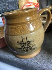 More details for stancombe farmhouse cyder 1 pint jug stoneware - p & l wilson pottery. no chips
