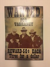 The Three Stooges Wanted For Vagrancy Tin Sign Collectible Memorabilia Very Rare