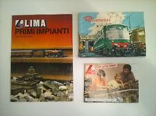 LIMA - RIVAROSSI - 3 BROCHURE DEPLIANT TRENINI ANNI '70/'80