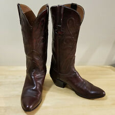 Lucchese Women's Boots Size 8B Leather Western Cowboy Brown Snug Fit