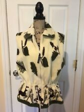 Denali Women's Vest Cinch Waist Deer Print Size Large