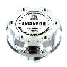 Chrome Billet Silver Engine Oil Anodized Oil Cap Filler For Silverado Sierra HD