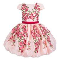 Disney Store Belle Celebration Party Dress Girls Beauty /& Beast Holiday Costume