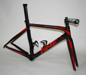 TIME Telaio Bici da Corsa Skylon Nero/Rosso
