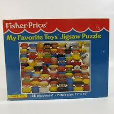 Fisher Price Little People Jigsaw Puzzle Vintage 1993 Complete 36 Pieces 11x15