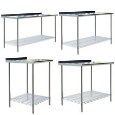 More details for catering stainless steel table commercial home kitchen work table food prep desk