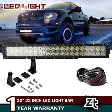 """04-14 Ford F150/SVT Raptor Lower Grille Bumper 20/22"""" LED Light Bar+4"""" Pods Cube"""