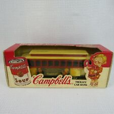 Campbells trolly Car Bank 1/43 Die Cast Metal Locking 1994 the Earth Company