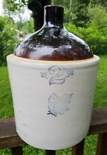 Western Stoneware Co. Crock Jug 2 Gallon Maple Leaf Logo Whiskey/Wine/Liquor