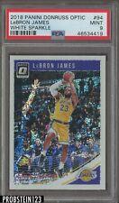 2018-19 Optic Basketball Lebron James LAKERS White Sparkle #94 PSA 9 Mint