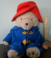 Paddington Bear large 60cm Soft Toy with Blue Coat & Red Hat Handcrafted