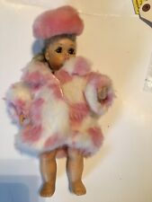 Terri Lee 10� Doll Furry Pink And White Coat With Hat. Doll Not For Sale