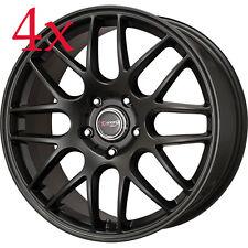 Drag Wheels DR-37 17x7.5 5x112 ET 35 Flat Black Rims For CC Mercedes Benz C-CLas