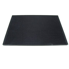 "Large Black Rubber Bar Service Spill Mat 18""x12"" - Non Slip Glassware Heavy Duty"