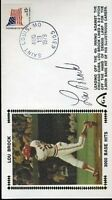 Lou Brock Signed Psa/dna 1979 Fdc Certified Autograph Authentic