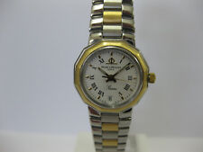 Ladies Baume & Mercier Riviera Watch Steel & Gold Plate Bracelet 5231 #680