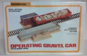 Bachmann 1426 HO Operating Gravel Car w/ Dump Yard