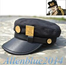 Anime Jojo's Bizarre Adventure Jotaro Kujou Flat Cap Cosplay Military Hat badge