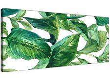 VERDE PALMA TROPICALE foglie di banana Tela Wall Art Print-larghezza 120 cm - 1324