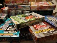 Topps Mystery Baseball Cards Box 2 Hobby Packs + Hit/Auto/Relic 60 Cards + Bonus
