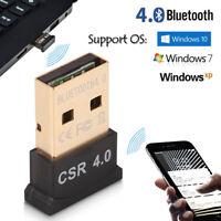 Clé USB 2.0 Bluetooth V4.0 Dongle Adaptateur Sans fil Pour Windows Win 7 8 DE