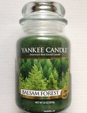 Yankee Candle BALSAM FOREST 22 OZ. LARGE JAR HTF RETIRED HOLIDAY SCENT