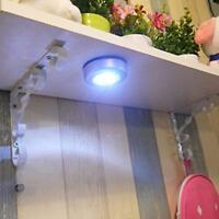 3 Lampes Led pression Spot Tactiles Sans Fil Puissantes Adhésives Autocollantes